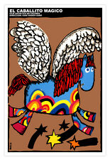 "Movie Poster 4 film""MAGIC flying Horse""Children Room art Decoration in Spanish."