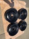 4-60s 70s 15x5.5 6 Lug Gm Stamped Chevy Gmc Truck Steel Wheels Rims 3nub 64-70