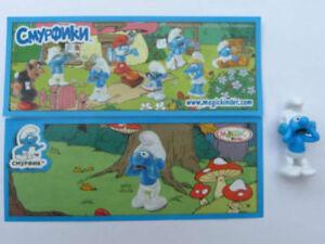 UN132 Luz Exclusiva + Bpz Variante Rusia Kinder Joy 2011 I Pitufos - The Smurfs