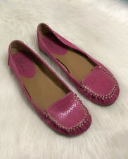 Mia Amore Pink Loafers Flats Women's Size 8 Slip On Shoes
