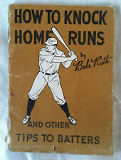 Vintage 1934 Babe Ruth Quaker Oats How to Knock Home Runs Booklet