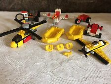 GENUINE LEGO VEHICLES ASSORTED LOT PLANE DINGHY HELICOPTER FUEL PUMP LIFEJACKETS