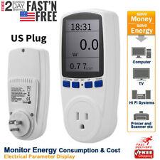 Lcd Power Meter Consumption Energy Analyzer Watt Amps Volt Electricity Monitor U