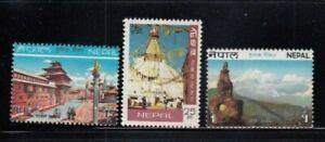 NEPAL Royal Palace, Bodhnath Stupa & Gauri Shankar MNH set