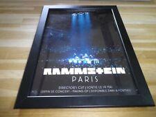RAMMSTEIN - Concert Paris - PUB ORIGINALE ENCADREE !! ORIG ADVERT FRAMED