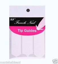 French Manicure Nail Art Form Fringe 3 Style Guides Sticker DIY Stencil