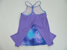 Ivivva Girls Purple Peek A Boo Back Athletic Tank Top sz 12
