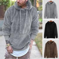 Men's Long Sleeve Fleece Fur Sweatshirts Casual Warm Thick Pullover Jumper Tops