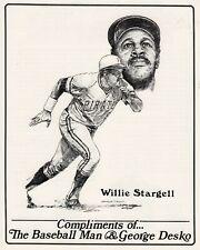 Willie Stargell 8x10 Black and White Artist Sketch