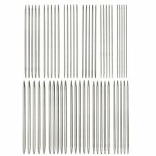 "55PCS 11 Sizes 7.9"" 20cm Double Pointed Stainless Knitting Needles Kit Set Tools"