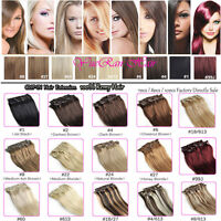 Clip in Remy Human Hair Extensions Full Head 100% Human Hair UK Any Colors New