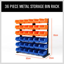 36 Bin Storage Box 6 Shelf Metal Rack Organizer Shelve Commercial Storing Garage