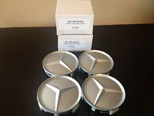 4 PC SET MERCEDES CENTER HUB CAPS PAINTED STYLE 190D 190E 260E 300CE 300D