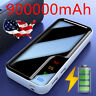 900000mAh Portable External Battery Charger Dual USB Power Bank for Cell Phone