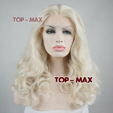 "Fashion Long Party Lace Front Curly Light Blonde 20"" Long Heat Resistant Wig"