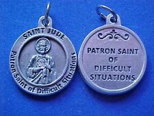 St JUDE Patron Saint Difficult Impossible Situations Saint Medal Silver Tone