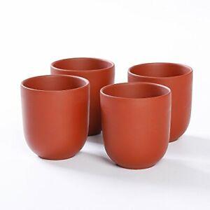 """4 x Ton-Teetasse """"Terry"""" - Teetasse aus Ton / Teecup / Teacup aus Terracotta"""