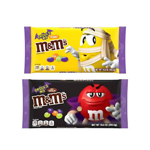 M&M Ghouls Mix Halloween Candy Variety  Pack- Spooky Colors Milk Chocolate and