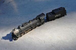 Toby PFM HO scale brass Frisco 4-8-2 steam locomotive #1511 painted - NICE