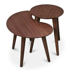 Nesting Walnut Side Tables - Mid Century Modern