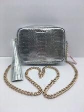 Victoria Secret Fashion Silver Cross body Purse Bag W/ chain Women's Accessory