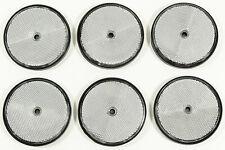 6x Katzenaugen SCH 80 mm  silber Rückstrahler für Wohnwagen  rund  Reflektoren