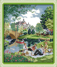 Joy Sunday Counted Cross Stitch Kit 14 Count Picnic 19in * 22in Embroidery Kit