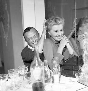 Italian actress Sophia Loren laughing with Emilio Schuberth 1955 OLD PHOTO