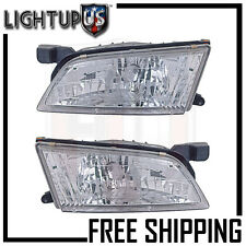 Headlights Headlamps Pair Left right set for 98-99 Nissan Altima