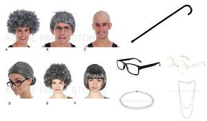 Grandma Grandpa Costume Wig 100 days prep School Dress up Book Week Glasses