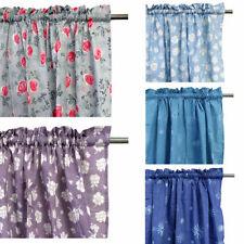 Unbranded Cotton Blend Floral Window Curtains