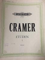 """J. B. CRAMER : """" Etüden für Klavier """" Bd. 1"""