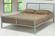 Stoney Creek Casual Silver Finish Queen Iron Bed Frame by Coaster 300201Q