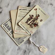 1917 BOY SCOUT BSA RIVET CORNER MEMBERSHIP CARD 103 Years Old