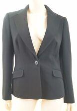 JAEGER London Black Wool Blend Fitted Formal Business Lined Blazer Jacket UK12