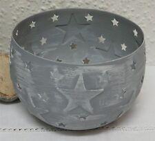 Deko-Windlichter aus Metall mit Stern-Schliffform