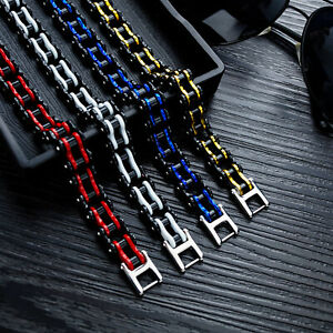 Edelstahl Herren Fahrradkette Armband Steel Biker Armkette Gliederarmband