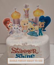 Shimmer & Shine Large Edible Cake Topper Scene pre-cut Birthday Kids decoration