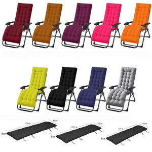 Foldable Recliner Chair Cushion Rocking Chair Pad Double-sided Lounger Mat YG