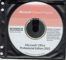Microsoft Office 2003 - Professional Edition - Full Version