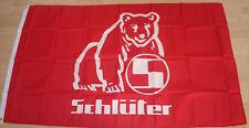 201 FAHNE/FLAGGE Trecker Traktor Schlüter Bär Logo 150x250  XXL  NEU