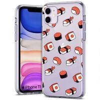 Thin Gel Phone Case,Apple iPhone 11,XS,XR,8 Series,Sushi Nigiri Sashimi Print