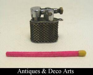 Vintage Metal Art Deco Miniature Lighter H: 2cm