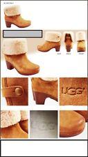 Ugg para mujer Botas de piel de oveja Castaño Clogg Lynnea 3204 tamaño 3 UK, 36 EU