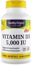 Healthy Origins Vitamina D3 5000 IU 360 Capsulas ENVIO 24-48H 125mcg para 1 AÑO