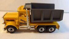 """Matchbox #30 Yellow Peterbilt Quarry Truck """"Dirty Dumper"""" - Loose & Nice"""