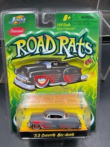 Jada Road Rats 1/64 1953 Chevy Bel Air flat gray,red