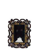 Vintage Collectors Enamel & Swarovski Crystal Picture Photo Frame