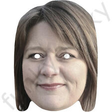 Leanne Wood Celebrity Politician Card Mask - All Our Masks Are Pre-Cut!
