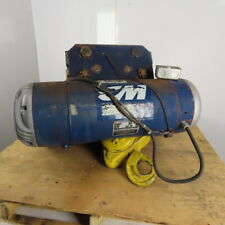 Cm 5862 2 Ton Electric Hoist Wire Rope 10 Lift 18fpm 440v 3ph Withpower Trolley